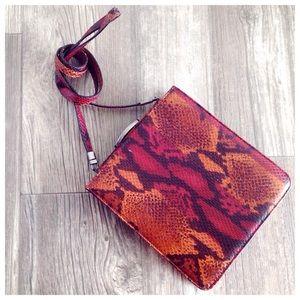 Lamarthe Snake Print Crossbody Bag